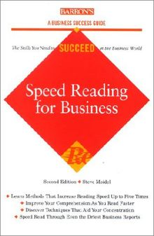 Speed Reading for Business (Barron's Business Success Guides)