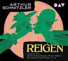 Reigen: Zehn Dialoge. Ungekürzte Lesung mit Helmut Qualtinger, Peter Weck, Christiane Hörbiger u.v.a. (2 CDs)
