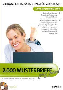 2.000 Musterbriefe privat!, 1 CD-ROM Vorlagen, die das Leben erleichtern! Die Komplettausstattung für zu Hause!. Für Windows XP/Vista