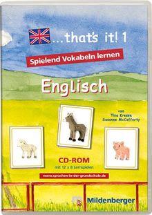 ...that's ist! 1. Spielend Vokabeln lernen. Englisch. CD-ROM ab Windows 98SE/ME/2000/XP
