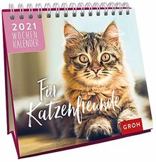 Für Katzenfreunde 2021: Tischkalender mit Wochenkalendarium