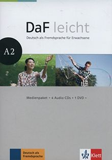 DaF leicht A2: Deutsch als Fremdsprache für Erwachsene. Medienpaket (4 Audio-CDs + DVD) (DaF leicht / Deutsch als Fremdsprache für Erwachsene)
