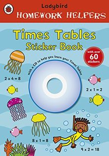Ladybird Homework Helpers: Times Tables Sticker Book with CD