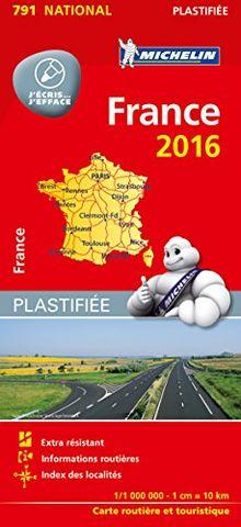 Michelin Frankreich 2016 (plastifiziert) (Michelin Nationalkarte)