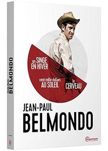 Coffret jean-paul belmondo 3 films : un singe en hiver ; cent mille dollars au soleil ; le cerveau