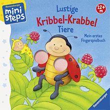 ministeps® Bücher: Lustige Kribbel-Krabbel Tiere: Mein erstes Fingerspielbuch. Ab 12 Monaten.