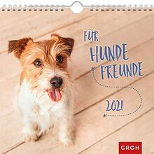 Für Hundefreunde 2021: Dekorativer Wandkalender mit Monatskalendarium