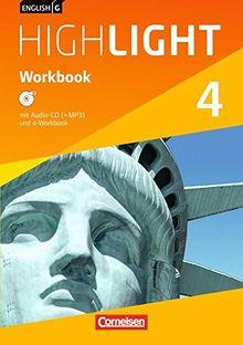 English G Highlight - Hauptschule: Band 4: 8. Schuljahr - Workbook mit Audio-CD: Audio-Dateien auch als MP3