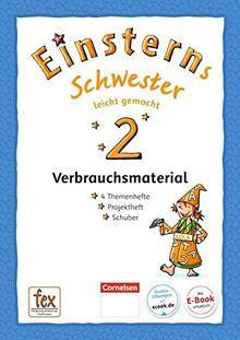 Einsterns Schwester - Sprache und Lesen - Neubearbeitung: 2. Schuljahr - Leicht gemacht: Themenhefte 1-4 und Projektheft mit Schuber. Verbrauchsmaterial