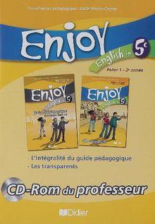 English in 5e Enjoy : Palier 1 - 2e année, CD-Rom du professeur