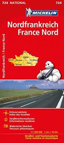 Michelin Frankreich Nord: Straßen- und Tourismuskarte (Michelin Nationalkarte)