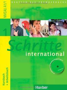 Schritte international 1: Deutsch als Fremdsprache / Kursbuch + Arbeitsbuch mit Audio-CD zum Arbeitsbuch und interaktiven Übungen
