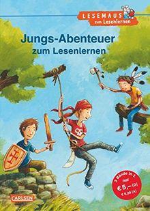 LESEMAUS zum Lesenlernen Sammelbände: Jungs-Abenteuer zum Lesenlernen: Einfache Geschichten zum Selberlesen - Lesen üben und vertiefen