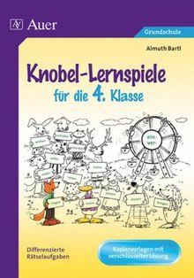 Knobel-Lernspiele für die 4. Klasse: Differenzierte Rätselaufgaben