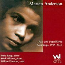 Marian Anderson Rare und Unpublished Recordings