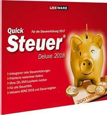 Lexware QuickSteuer Deluxe 2018 für das Steuerjahr 2017|Einfache und schnelle Steuer-Software für die private und gewerbliche Steuererklärung|Kompatibel mit Windows 7 oder aktueller