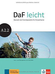 DaF leicht A2.2: Kurs- und Übungsbuch + DVD-ROM