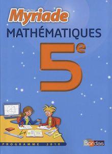 Maths 5e Programme 2010 : Le manuel