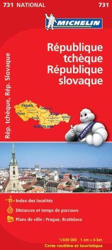 Carte République tchèque, République slovaque Michelin