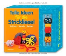 Tolle Ideen für die Strickliesel-Set: Stricken - Basteln - Spielen. Buch mit Strickliesel aus Holz und Holzstäbchen