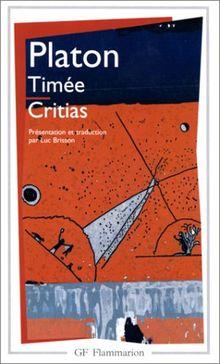 """Timée, suivi du """"Critias"""" (Garnier Flammarion Philosophie)"""