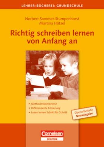 Lehrerbücherei Grundschule Richtig Schreiben Lernen Von Anfang An