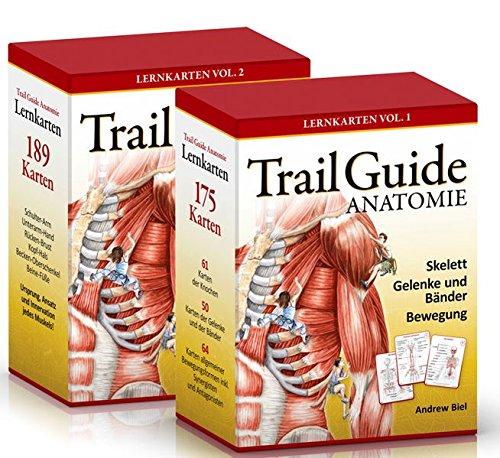 Trail Guide Anatomie: Lernkarten-Set Vol. 1 + Vol. 2 von Andrew Biel