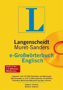 Langenscheidt Muret Sanders e-Großwörterbuch Deutsch - Englisch. CD-ROM