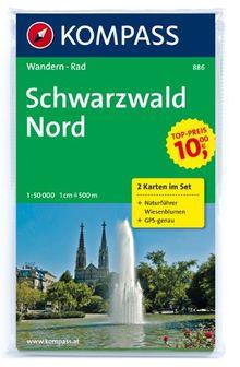 Schwarzwald Nord, Wanderkarten-Set mit Naturführer in der Schutzhülle. 1:50000 GPS-genau