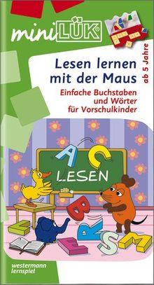 miniLÜK: Lesen lernen mit der Maus: Einfache Buchstaben und Wörter für Vorschulkinder