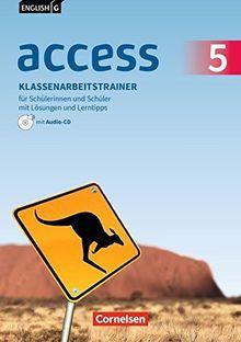 English G Access - Allgemeine Ausgabe / Band 5: 9. Schuljahr - Klassenarbeitstrainer mit Lösungen und Audios online: Mit Lerntipps