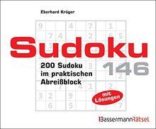 Sudoku Block 146: 200 Sudoku im praktischen Abreißblock