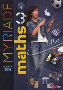 Maths 3e Cycle 4 Myriade