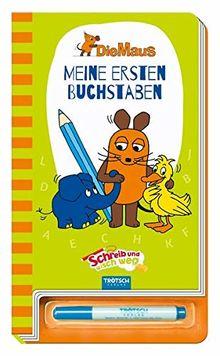 """Meine ersten Buchstaben """"Die Maus"""": Schreib-und-wisch-weg-Übungsbuch mit Stift"""