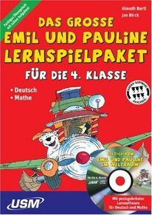 Das große Emil und Pauline Lernspielpaket für die 4. Klasse,Buch u. CD-ROM (Deutsch-Mathe)