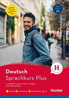Hueber Sprachkurs Plus / Hueber Sprachkurs Plus Deutsch A1/A2, Englische Ausgabe: A German Self-Study Course for Beginners / Buch mit Begleitbuch, Onlineübungen, MP3-Download und App