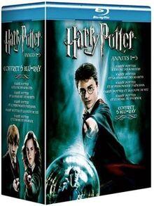 Harry Potter à l'école des sorciers + ...et la chambre des secrets + ...et le prisonnier d'Azkaban + ...et la coupe de feu + ...et l'Ordre du Phénix - Coffret 5 Blu-Ray [Blu-ray] [FR IMPORT]