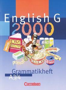 English G 2000, Ausgabe A, Grammatikheft für das 7. und 8. Schuljahr, Ausgabe A: Für Gymnasien. 7./8. Klasse