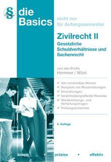 Basics Zivilrecht II: Gesetzliche Schuldverhältnisse und Sachenrecht