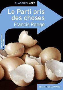 Classico Le Parti pris des choses de Francis Ponge