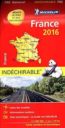 Michelin Frankreich 2016 (widerstandsfähig): Tourismus- und Straßenkarte 1:1.000.000 (Michelin Nationalkarte)