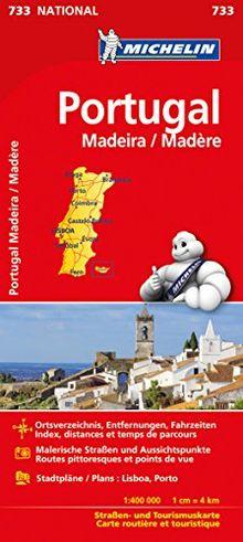 Michelin Portugal Madeira: Straßen- und Tourismuskarte (Michelin Nationalkarte)