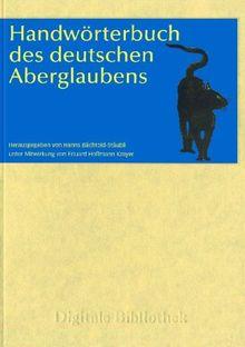 Handwörterbuch des deutschen Aberglaubens. CD-ROM für Windows 98/ME/NET/2000/XP