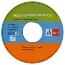 Prisma 1,2. Naturwissenschaften. 5./6. Klasse. CD-ROM. Lösungen auf CD-ROM zu Band 1 und 2 (Lernmaterialien)