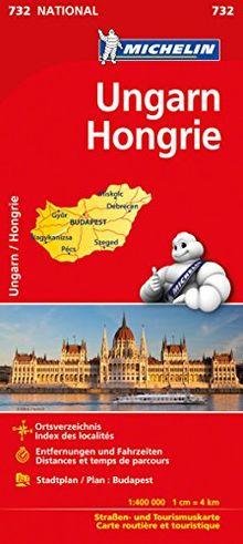 Michelin Ungarn: Straßen- und Tourismuskarte (Michelin Nationalkarte)