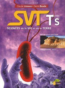SVT Tle S : Programme 2012