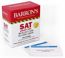 SAT Subject Test Biology E/M Flashcards (Barrons Subject Tests)