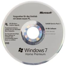 Windows 7 Home Premium 64 Bit OEM inkl. Service Pack 1