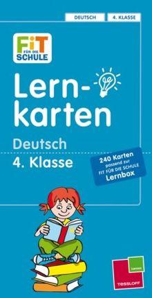 Fit für die Schule: Lernkarten Deutsch 4. Klasse