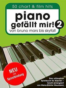 Piano gefällt mir! 50 Chart und Film Hits - Band 2 (Variante Spiralbindung). Von Bruno Mars bis Skyfall. Das ultimative Spielbuch für Klavier - arrangiert von Hans-Günter Heumann